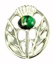 Heathergems Scotland Scottish Thistle Brooch Gift